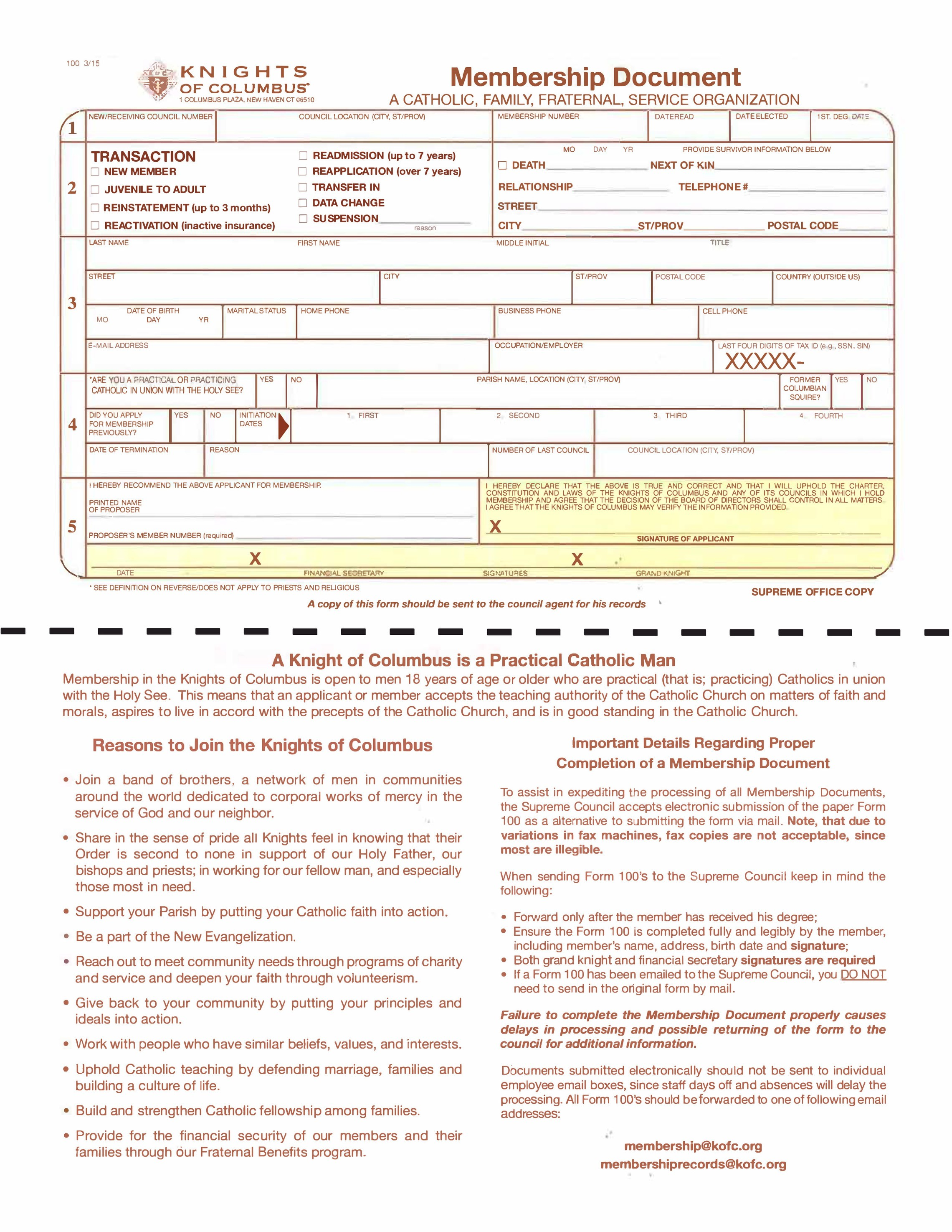 Kofc Membership