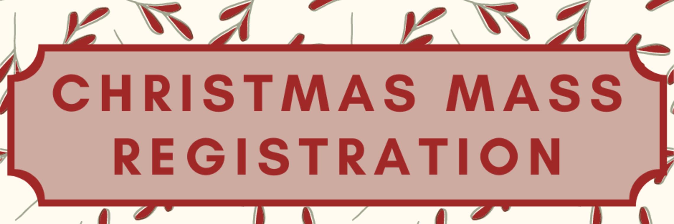 Christmas Mass Registration Banner